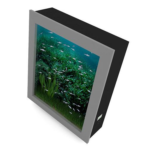 Wall mounted aquarium 3d model max obj fbx c4d - Wall mounted fish aquarium ...