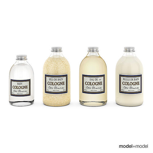 3d model bathroom bottles set cgtrader for Bathroom bottles