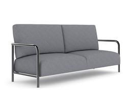 3D model Grey Fabric Sofa