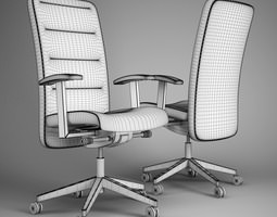 Office chair cookout 3D