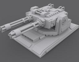 3D asset GatlingTurret