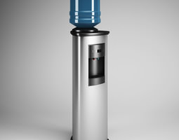 Standing Water Dispenser 18 3D