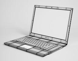 3d model laptop computer 11