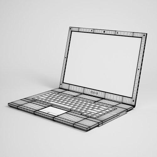 laptop computer 11 3d model max obj mtl fbx c4d 1