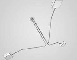 Triple Ceiling Lamp 12 3D