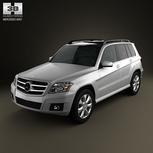 Mercedes benz glk class 2010 3d model max obj 3ds c4d lwo for Mercedes benz suv models list