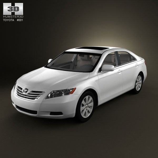 Toyota Camry Xv40 2008 With Hq Interior 3d Model Max Obj 3ds C4d Lwo Lw Lws  ...
