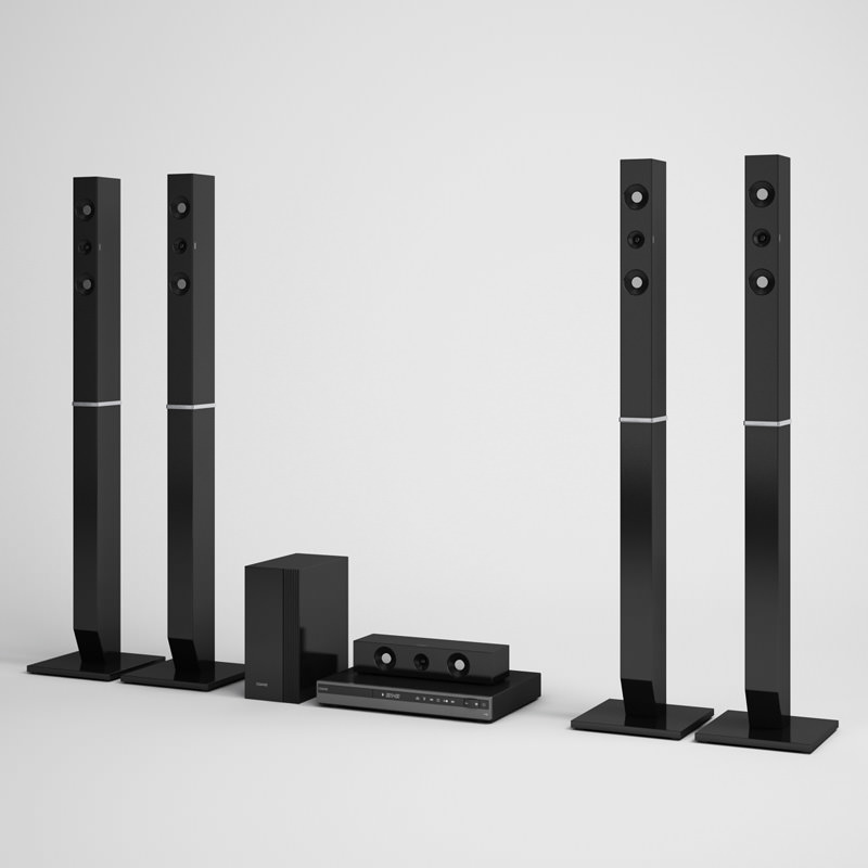 Home Theater Speakers 07 3d Model