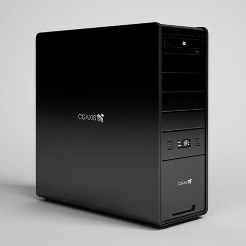 desktop computer 21 3d model max obj fbx c4d 1