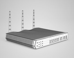 3D model CGAxis WiFi Router