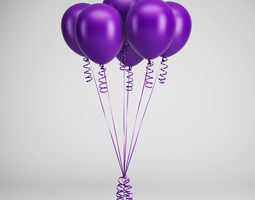 Party Baloons 06 3D model