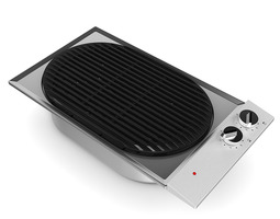 built in electric grill 3d
