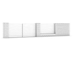 Gate 3d models - Concrete fence models design ...