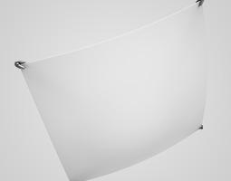 flat ceiling lamp 27 3d model
