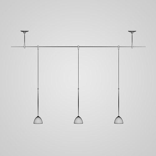 triple ceiling lamp 22 3d model max obj mtl fbx c4d 1
