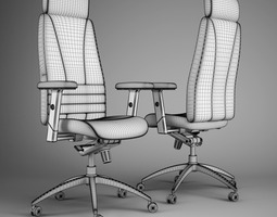office chair 47 3d