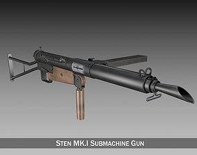 Sten MK I Submachine Gun 3D model