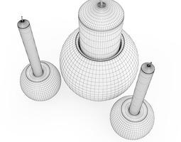 3D model Chrome Candlesticks
