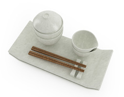 3D Sushi Tableware Set