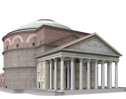 Pantheon in Rome Italy 3D