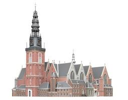 Oude Kerk 3D model