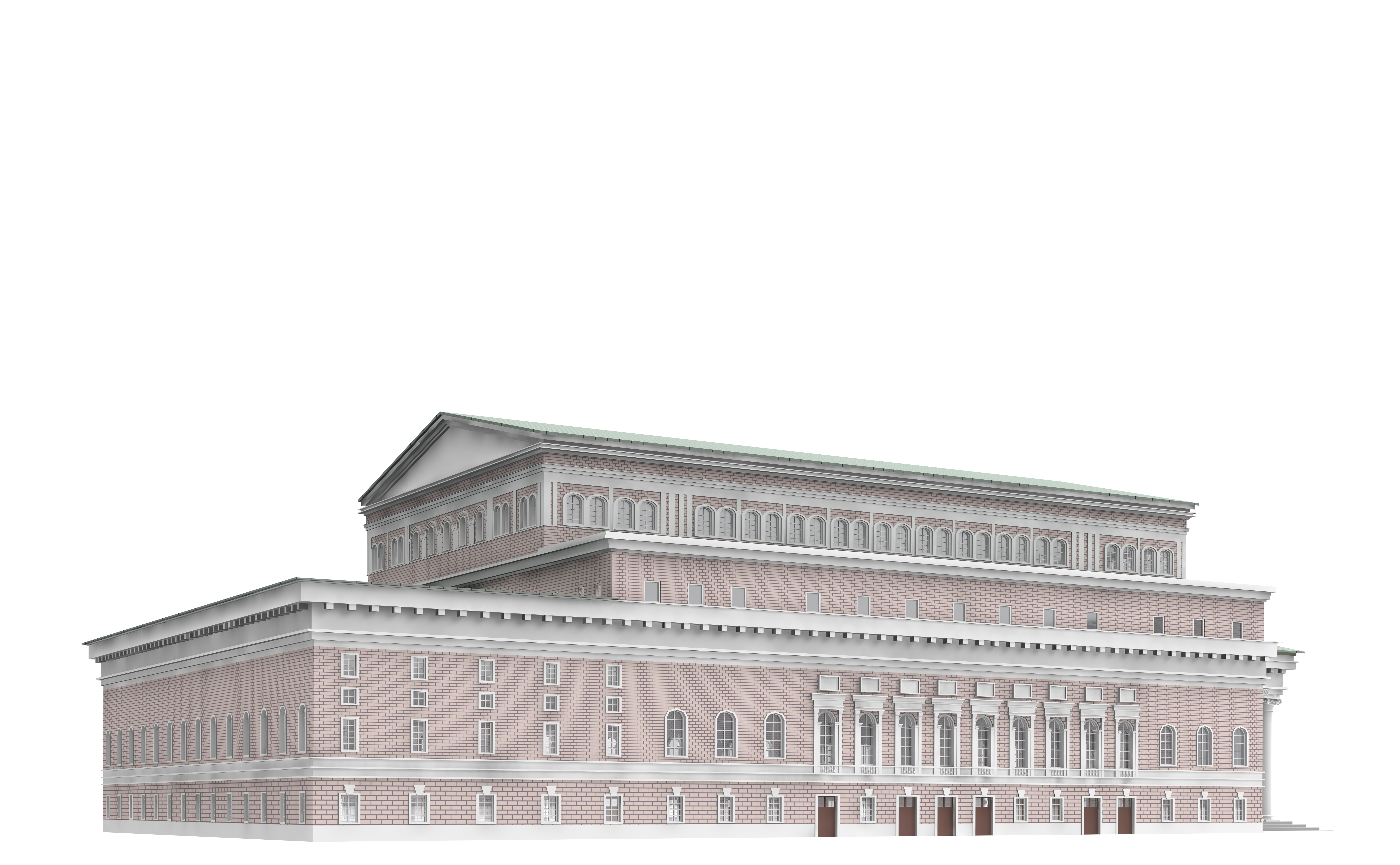 Bolshoi theatre 3d model 3ds c4d dae skp for Theatre model