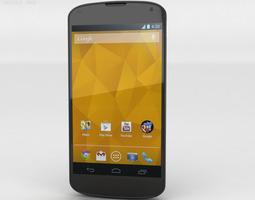 google nexus 4 3d model max obj 3ds fbx c4d lwo lw lws