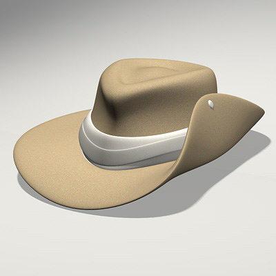 Australian Hat 3D model b907b9b6b2a7