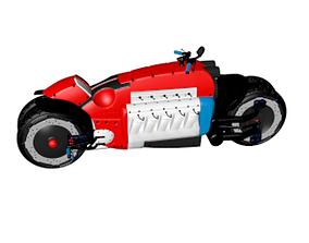 Motorbike CINEMA 4D 3D model