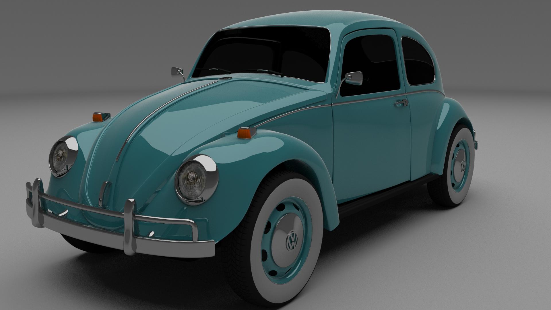 vw beetle 3d model obj blend dae mtl. Black Bedroom Furniture Sets. Home Design Ideas