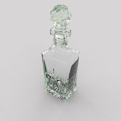 whisky decanter 3d model obj mtl 3ds blend 1