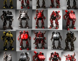 3D model Robot Collection