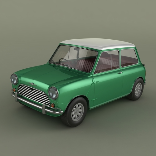 morris mini cooper mk 1 3d model max obj. Black Bedroom Furniture Sets. Home Design Ideas