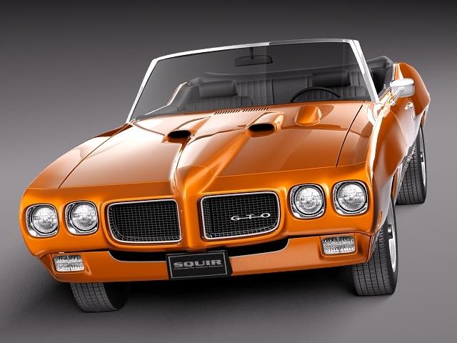1969 pontiac gto convertible 3d model max 3ds fbx c4d lwo lw lws mtl 8