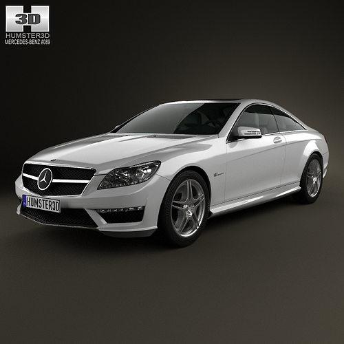 mercedes-benz cl-class 65 amg 2012 3d model max obj mtl 3ds fbx c4d lwo lw lws 1