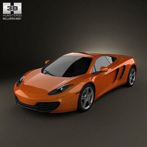 mclaren mp4-12c 2011 3d model max obj mtl 3ds c4d lwo lw lws ma mb 1