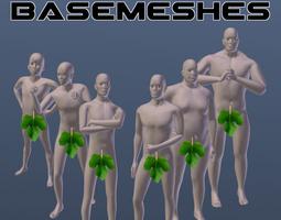 male basemesh pack 3d model 3ds fbx blend