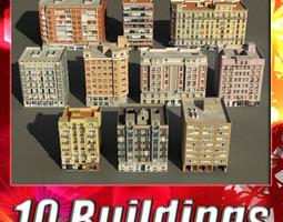 3D asset Building Collection 81 - 90