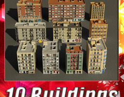Building Collection 91 - 100 3D Model