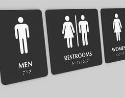 3D printable model Braille Toilet Restroom Signs