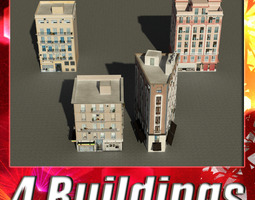 Building Collection 17-20 3D Model