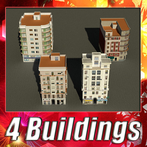 building collection 29-32 3d model low-poly max obj mtl 3ds fbx 1