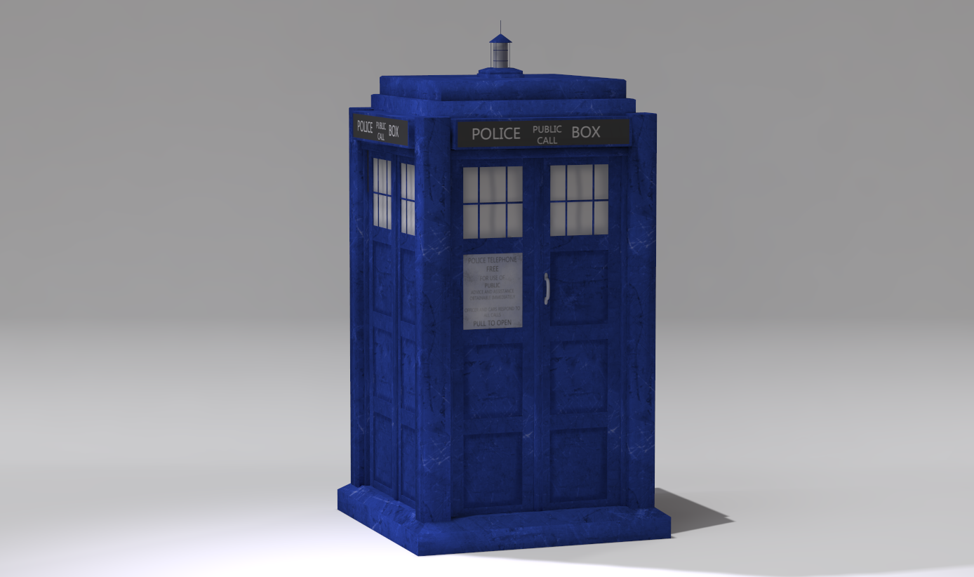 Doctor who 8th doctor tardis console 3d model | cgtrader.