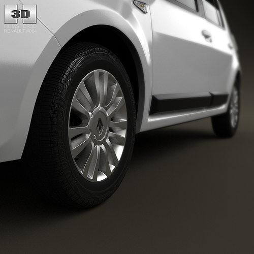 Renault Sandero BR 2011 3D Model MAX OBJ 3DS FBX C4D LWO ...