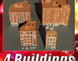 building collection 61-64 3d model low-poly max obj 3ds fbx