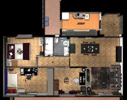 Entire apartment 3D