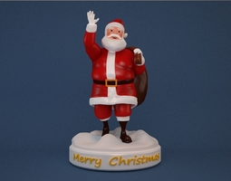 3d printable model santa claus print ready