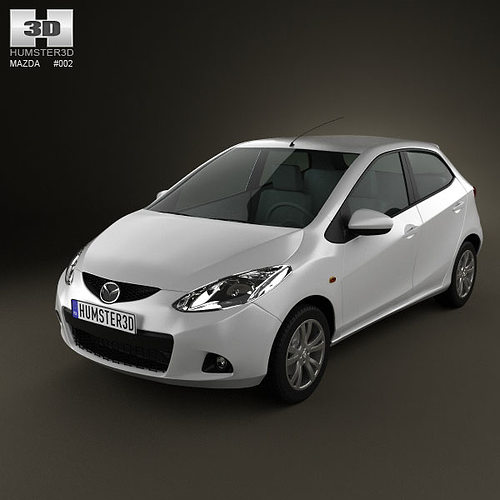 mazda 2 5-door 2010 3d model max obj 3ds c4d lwo lw lws ma mb 1