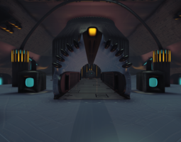 3D model Sci-Fi Dome - big room