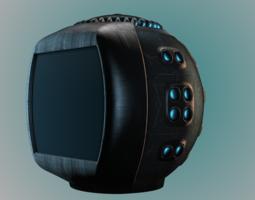 future tv computer 3d model obj 3ds mtl